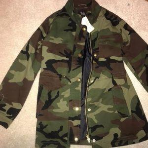 Girls camo jacket